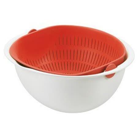 日本 曙產業 搖蓋式洗米籃(L) MZ-3510