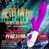 愛浪情郎 高端時尚30頻電動按摩棒 逼真款 USB充電版