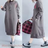 【Maya Collection】厚綿絨美式風格長版連衣裙