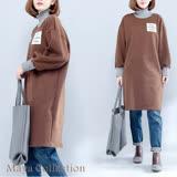 【Maya Collection】束袖美式簡約加厚冬長版衣