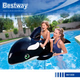 Bestway 41009 殺人鯨造型充氣浮排坐騎游泳圈