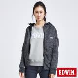 EDWIN 立體機能剪裁外套-女-黑麻灰