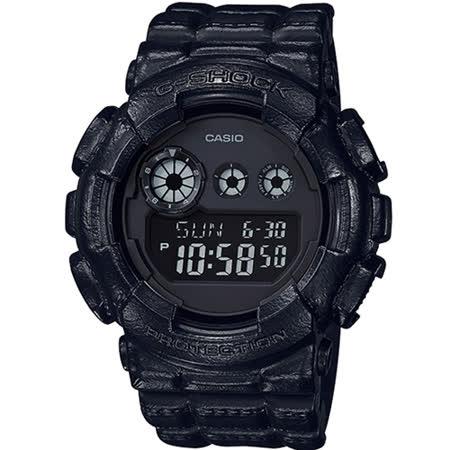CASIO卡西歐G-SHOCK粗曠造型皮革運動錶 GD-120BT-1