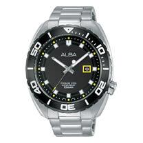 ALBA 石英男錶 不鏽鋼錶帶 防水100米 錶徑約44mm AG8H41X1