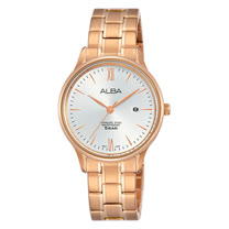 ALBA 玫瑰金石英女錶 不鏽鋼錶帶 防水50米 AH7N80X1