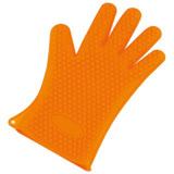 日本品牌【Arnest】矽膠隔熱五指手套 橘