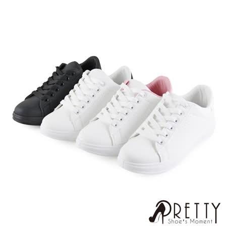 【Pretty】经典孔洞绑带休闲鞋/小白鞋