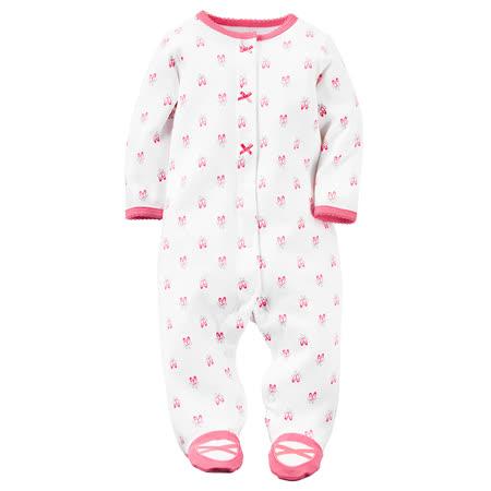 嬰幼兒秋冬包腳連身衣_粉色舞鞋(CTSPG018)