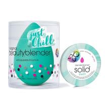 beautyblender®原創美妝蛋-活氧綠+贈Chill活氧綠水波紋清潔皂旅行裝 0.55ozX1
