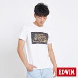 EDWIN 太空競賽銀河夜光短袖T恤-男-白色