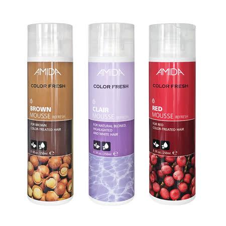 AMIDA 矯色/艷紅/極棕 染髮泡膜250ml 2入組