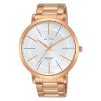 ALBA 石英男錶 不鏽鋼錶帶 銀白 防水50米 AH8396X1