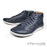【ferricelli】Hoggar專業高筒男仕運動休閒鞋  海軍藍(F46875-NA/G)