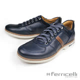 【ferricelli】Mobi最新除臭抗菌男仕休閒鞋  海軍藍(F50000-NA/R)