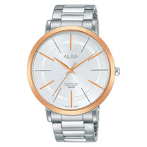 ALBA 石英男錶 不鏽鋼錶帶 銀白 防水50米 AH8400X1