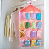 日式16格衣櫃小物分類收納掛袋(1入)