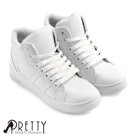 【Pretty】简单个性绑带内增高休闲鞋