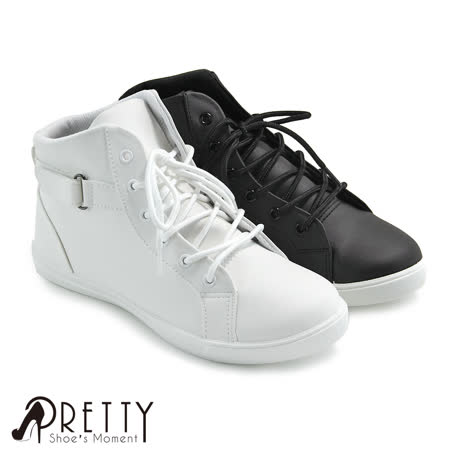 【Pretty】简单绑带魔鬼毡休闲女鞋