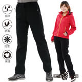 【遊遍天下】女款3D顯瘦防水防風禦寒刷毛褲(雪褲)GP20001黑色