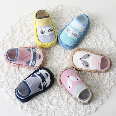 童襪 皮底兒童防滑地板襪學步鞋【任選兩入】