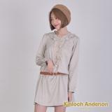 【Kinloch Anderson金安德森】圓領蕾絲荷葉洋裝 ( 2色 )