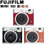 FUJIFILM Instax mini 90 拍立得 棕色 (平輸) 贈送卡通底片10張(隨機贈送)+專用束口袋