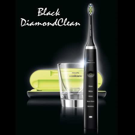 加碼送專用刷頭一入+指甲修容組(黑)飛利浦 PHILIPS Sonicare DiamondClean 音波牙刷鑽石機(黑鑽機)HX9352