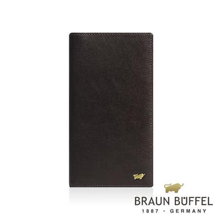 【BRAUN BUFFEL】德國小金牛-路易斯系列14卡薄型長夾/BF313-610-BR
