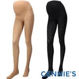 Gennies奇妮-孕婦專用彈性秋冬褲襪(膚/黑GM33)