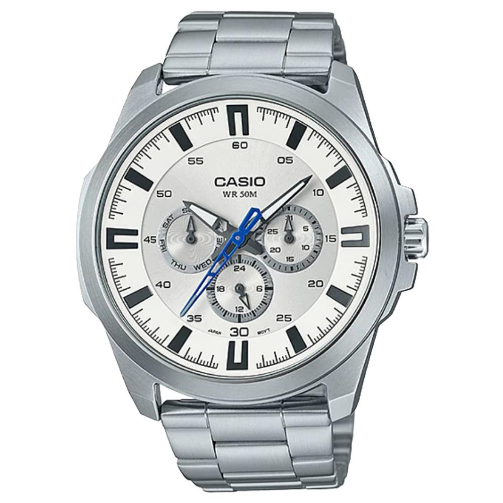 CASIO 卡西歐 三眼男錶 不鏽鋼錶帶 防水50米 滑動式錶針 MTP~SW310D~7