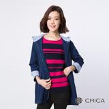 CHICA 冒險女孩抽繩連帽風衣外套(2色)
