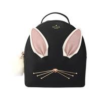 【KATE SPADE】兔子造型硬殼後背包(小款)(黑色)
