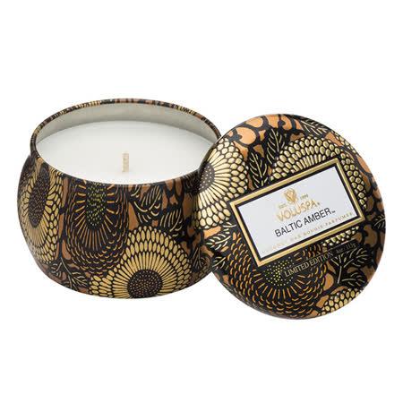 Voluspa 日式庭園 波羅的海琥珀 錫盒 香氛蠟燭 113g Baltic Amber