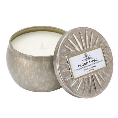 Voluspa 華麗年代 黃金煙草 錫盒 香氛蠟燭 127g Blond Tabac