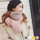 【PS Mall】韓版雙面仿羊絨圍巾冬季圍巾女情侶披肩 (G2487)