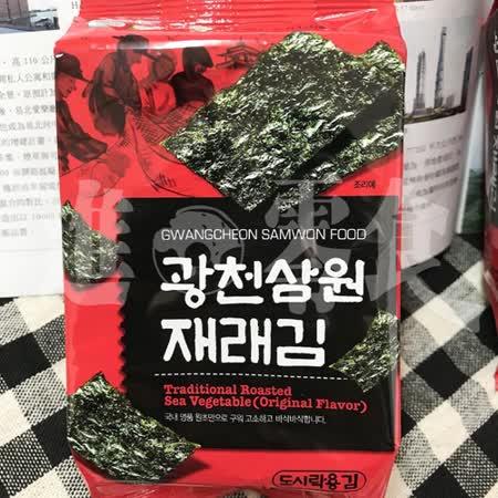 【SAMWON 】芝麻油海苔(3入/袋)