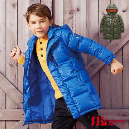 JJLKIDS 長版極暖羽絨連帽外套 2色