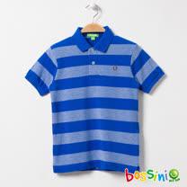 bossini男童-條紋短袖POLO衫