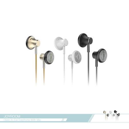 JOYROOM機樂堂 開放式 立體環繞平耳式金屬耳機 (EL117) 3.5mm各廠牌適用/ 線控接聽鍵/ 免持聽筒