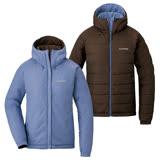 【日本mont-bell】Thermaland Parka 女款連帽化纖雙面穿保暖外套 深褐色/灰薰衣草 #1101567SB/LG