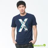bossini男裝-印花短袖T恤02海藍(品特)