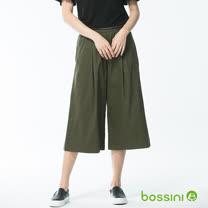 bossini女裝-素色七分寬褲
