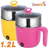 《丹露》-1.2L多功能料理美食鍋快煮鍋 MS-D10A蒸籠組(桃紅/鵝黃)