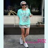 【CosmoPINK 粉紅教主】韓版2件式運動套裝-短T&短裙DRK0006
