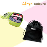 珠友《微旅行2件組》衣物收納袋(可加高)+抗菌收納束口袋/旅行衣物分類收納(XL)-Unicite