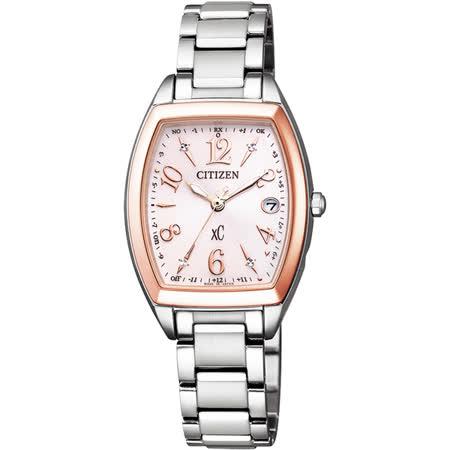 CITIZEN xC 憶戀梵蒂岡電波時計腕錶-ES9390-57W