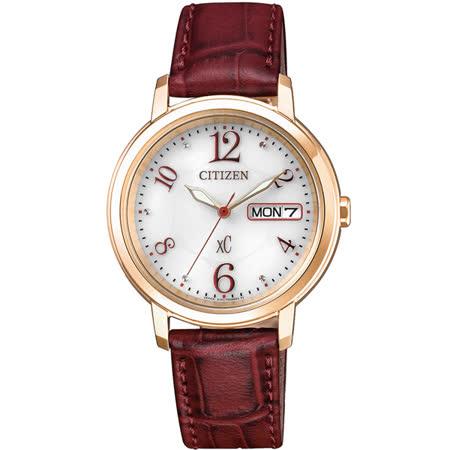 CITIZEN xC 憶戀梵蒂岡電波時計腕錶-ES9392-51W