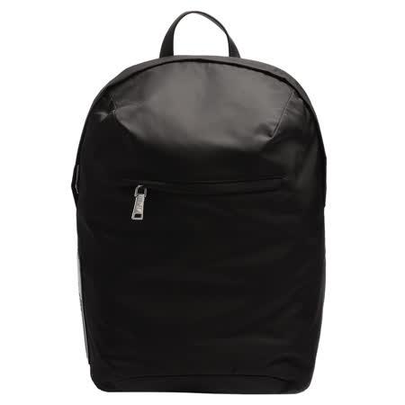PRADA 经典TESSUTO系列橡胶品牌字母徽标尼龙袋手提/后背包(黑)