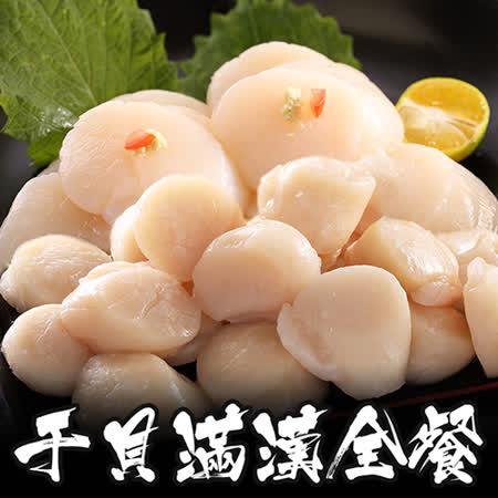 【海鲜王】干贝满汉全餐*1套组(北海道干贝500g*1+野生大干贝500g*1)