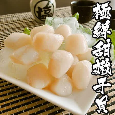 【海鲜王】极鲜甜嫩干贝3包组(13-17颗/250g/包 )
